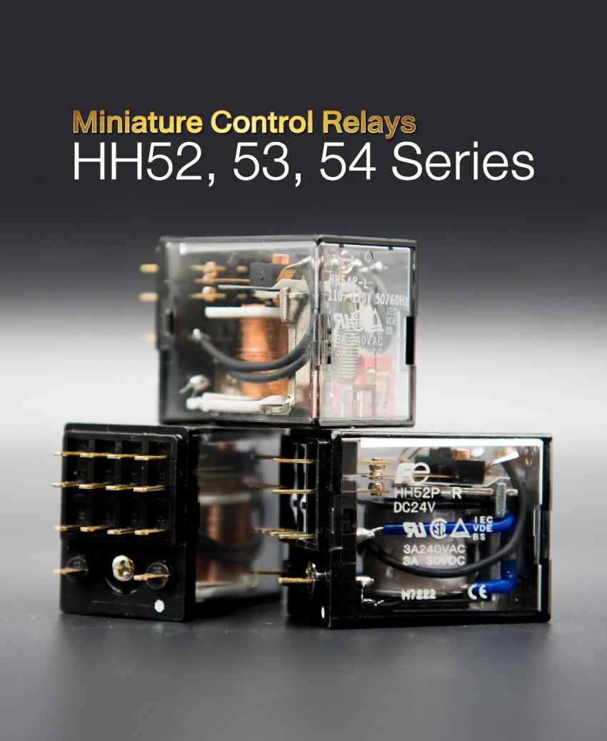 Miniature Control Relays:HH52,53,54 series - ตัวแทนจำหน่าย